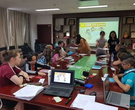 St mary magdalene academy secondary school islington mandarin students trip to china july 2019 study session