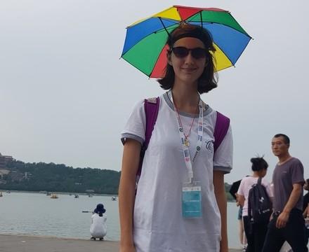 St mary magdalene academy secondary school islington mandarin students trip to china july 2019 umbrella hat