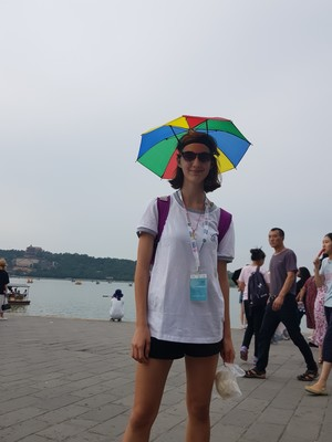 St mary magdalene academy secondary school islington mandarin students trip to china july 2019 umbrella hat