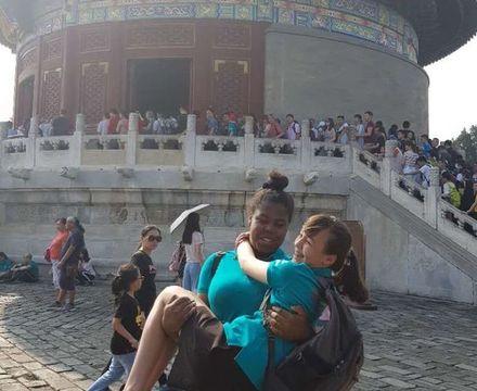St mary magdalene academy secondary school islington mandarin students trip to china july 2019 having fun