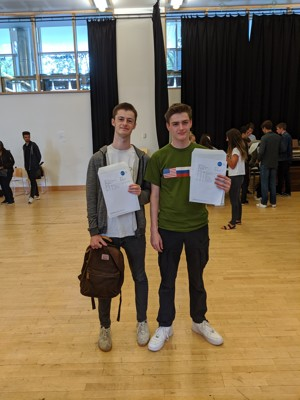 Sixth Form Students At St Mary Magdalene Sixth Form  Islington London, Fantastic A Level Results Day 2019