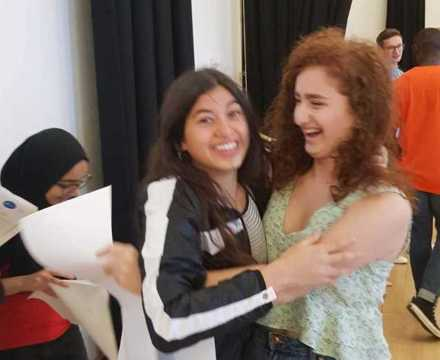 Islington gcse students celebrate their results at st mary magdalene academy sixth form london