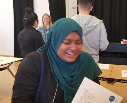 St mary magdalene academy smma sixth form islington gcse results day 2019 students celebrate