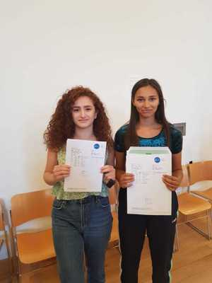 Students celebrate their gcse results at smma st mary magdalene academy sixth form islington gcse results day 2019