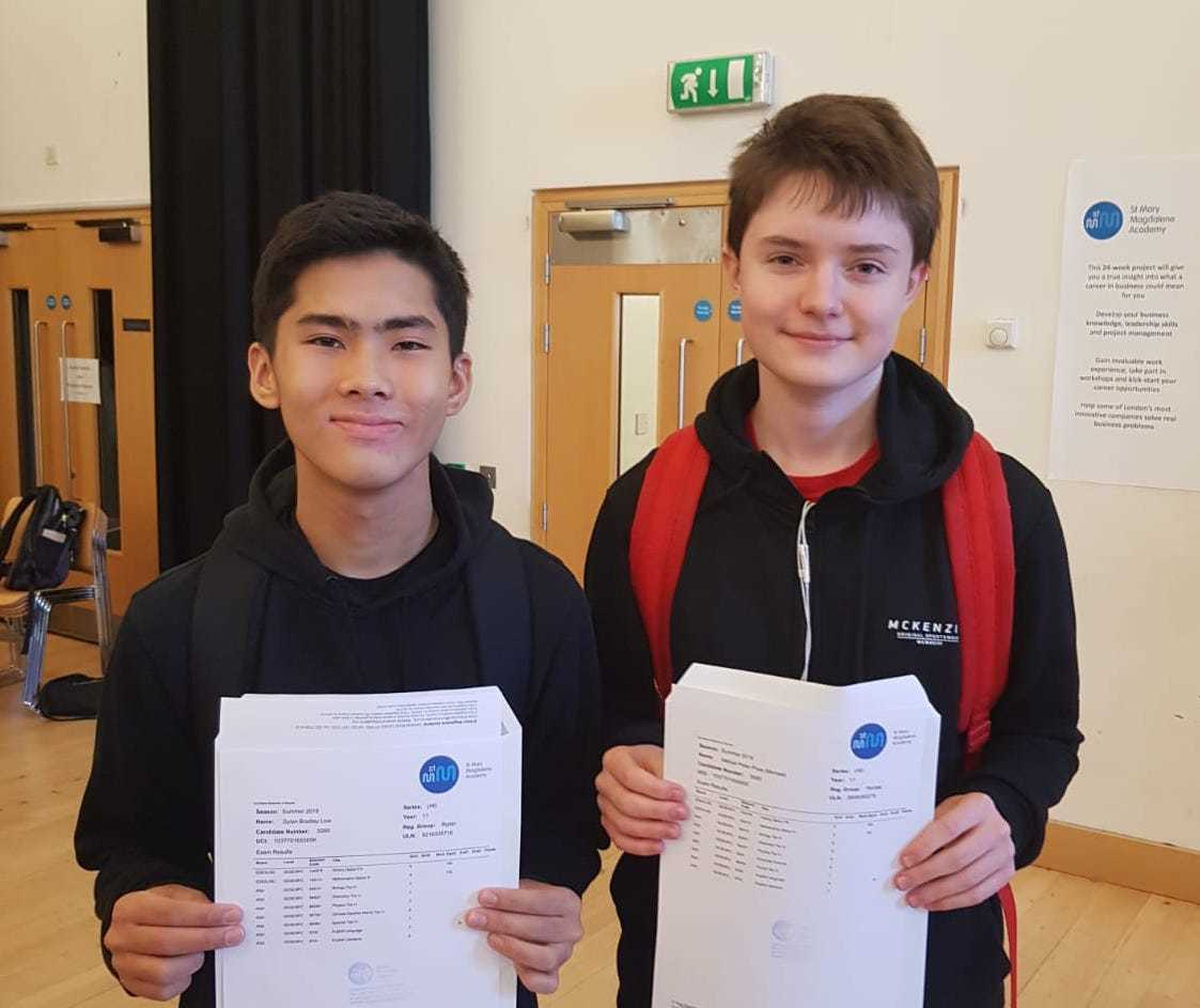 Smma st mary magdalene academy sixth form islington gcse results day 2019 students with their results