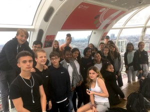 Smma st mary magdalene academy islington london summer activities week 2019 students in a pod at the london eye