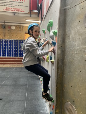 St mary magdalene academy london student enjoying climbing course summer 2019