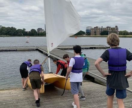 St mary magdalene academy london student enjoying sailing course summer 2019