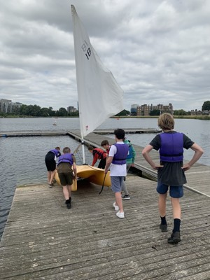 St mary magdalene academy london student enjoying sailing course summer 2019