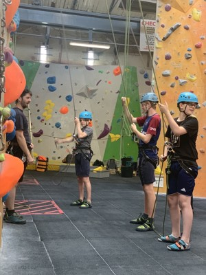 St mary magdalene academy london student on climbing wall summer 2019