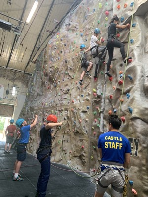 St mary magdalene academy london students on climbing course summer 2019