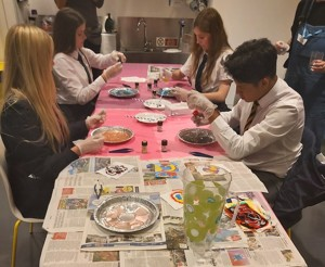 Smma st mary magdalene academy islington gcse art students busy creating art inspired by the being human exhibition at a wellcome collection study day