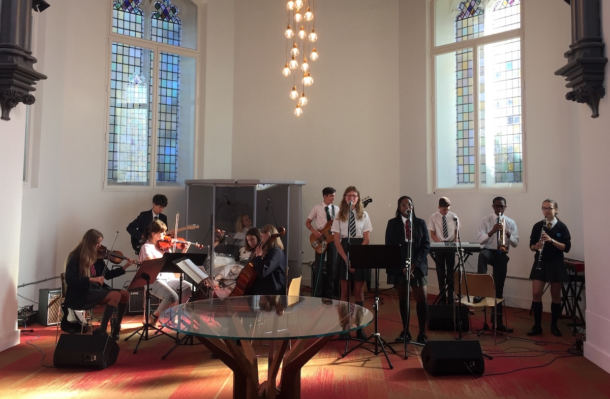 St mary magdalene academy islington start of year services with 14 music students performing