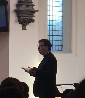 St mary magdalene academy islington new chaplain father sam korn at start of year services 2019