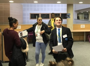 St mary magdalene academy islington secondary school london parents and children arriving at open evening admissions 2019