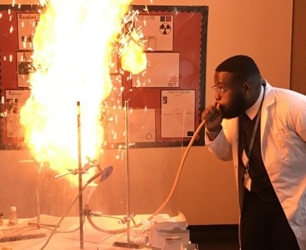 St mary magdalene academy islington secondary school london science demonstrations at open evening admissions 2019jpg