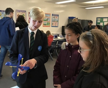 St mary magdalene academy islington secondary school london students and visitors work together on science demonstrations at busy open evening admissions 2019jpg