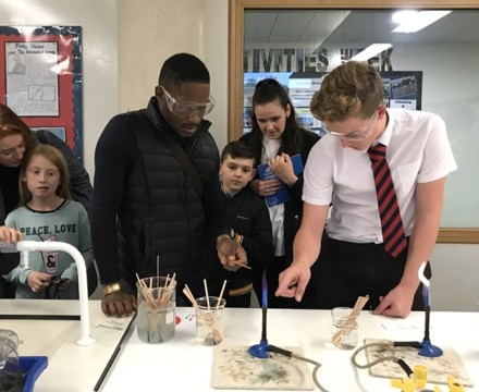 St mary magdalene academy islington secondary school london students help in science demonstrations at open evening admissions 2019jpg