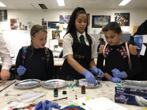 St mary magdalene academy islington secondary school london visitors and students get involved in science demonstrations at open evening admissions 2019jpg