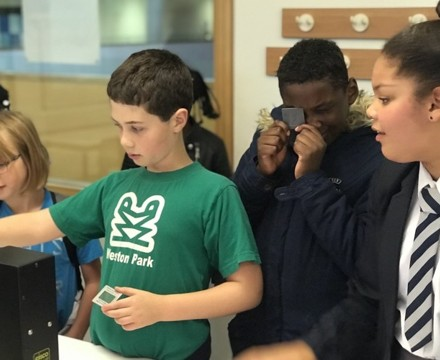St mary magdalene academy islington secondary school london visitors enjoy science demonstrations at open evening admissions 2019jpg