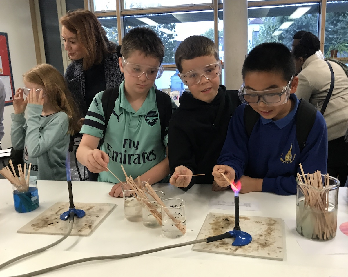 St mary magdalene academy islington secondary school london visitors enjoying science demonstrations at our busiest ever open evening admissions 2019jpg