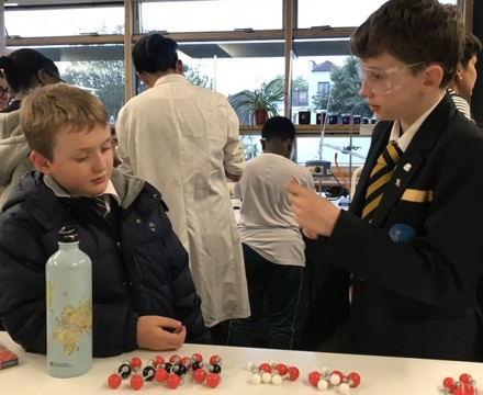 St mary magdalene academy islington secondary school london visitors get a chance to see science demonstrations at busy open evening admissions 2019jpg