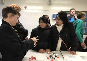 St mary magdalene academy islington secondary school london visitors get involved in science demonstrations at open evening admissions 2019jpg