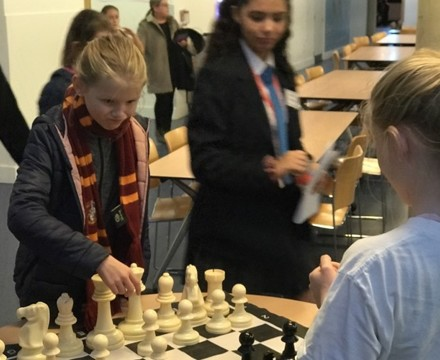 St mary magdalene academy islington secondary school london visitors meet our chess club at busy open evening for admissions 2019jpg