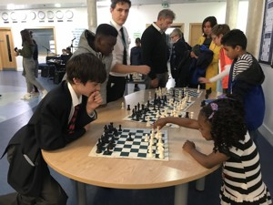 St mary magdalene academy islington secondary school london visitors play chess with our students at our busiest open evening for year 7 admissions 2019jpg