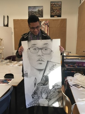 A level art student from st mary magdalene sixth form islington london