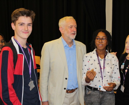 Islington sixth form students from st mary magdalene academy london meet jeremy corbyn