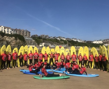 Islington sixth form students from st mary magdalene academy london surfing in newquay