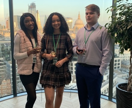 Sixth Form Students from St Mary Magdalene Sixth Form Islington attend a busines reception at Deloitte