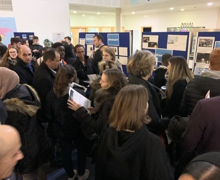 Sixth form open evening st mary magdalene academy islington london a great turnout of families exploring a level courses and subjects