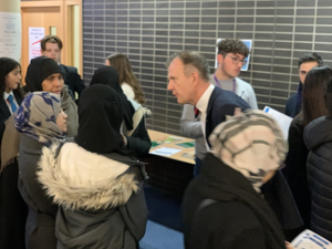 Sixth form open evening st mary magdalene academy islington london course leaders offer guidance on a level courses and subjects