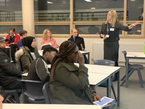 Sixth form open evening st mary magdalene academy islington london heads of department explain a level courses and subjects