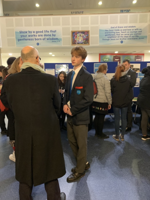 Sixth form open evening st mary magdalene academy islington london students and families investigate a level courses and subjects