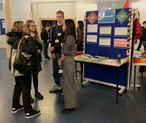 Subject stalls in our opportunities fair sixth form open evening st mary magdalene academy islington london exploring a level courses and subjects